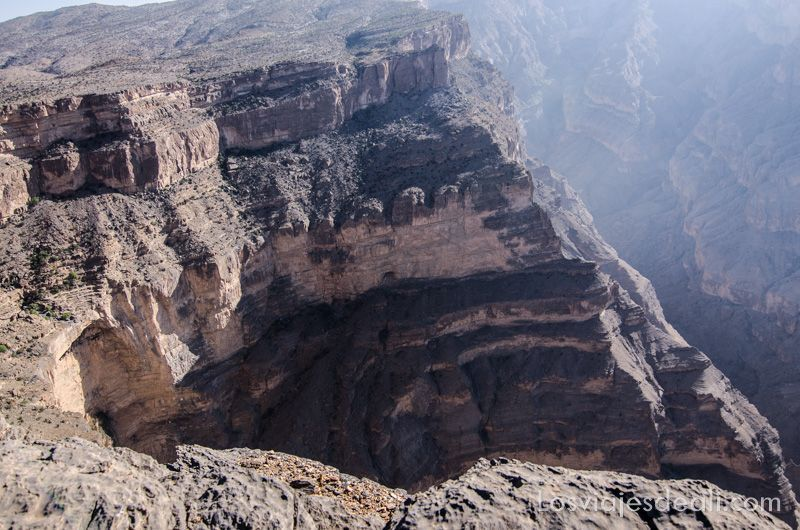 gran cañón de las montañas de Omán