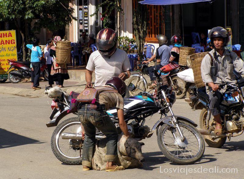 mercado de bac ha en vietnam