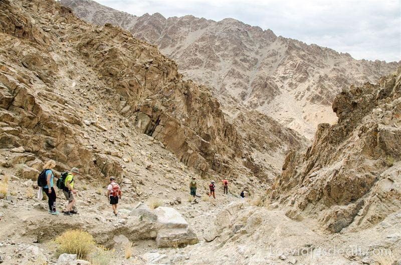 trekking cerca de Leh hacia saboo