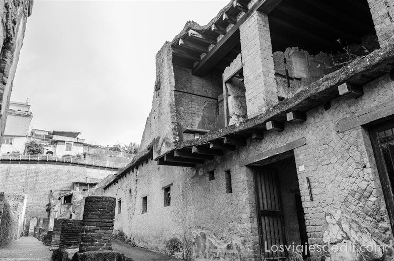 visita a Herculano de dos pisos