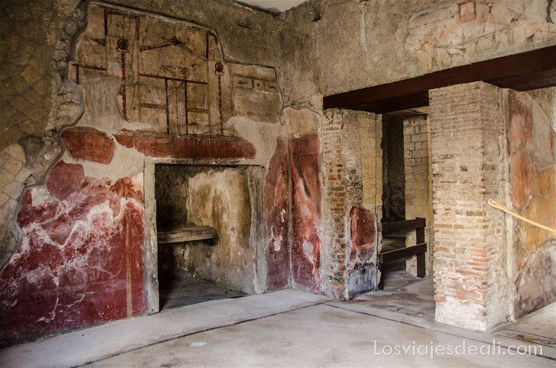 visita a Herculano interior de las casas