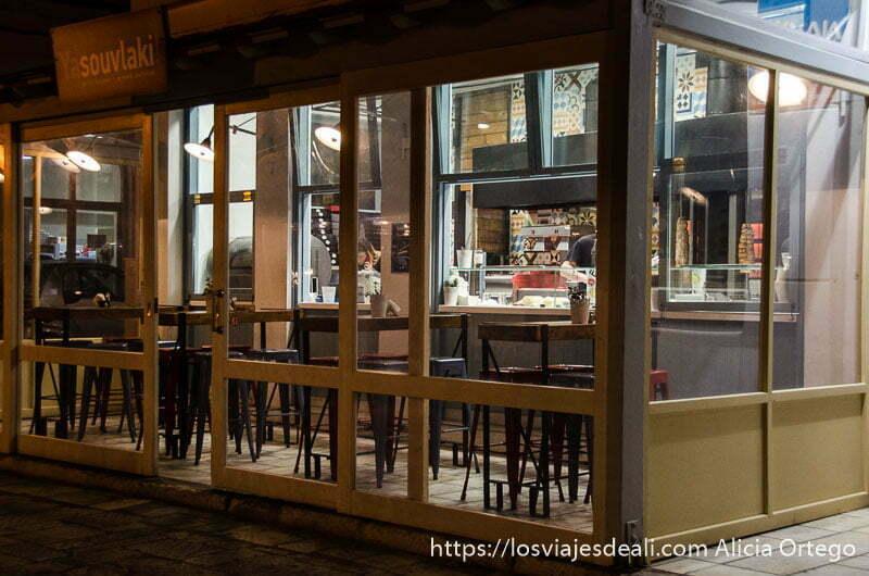 restaurante de gyros gastronomía griega