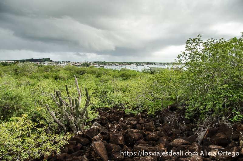 panorama desde el cerro en isla san cristóbal galápagos