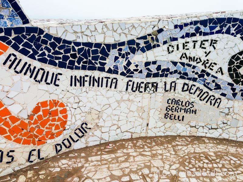 parque del amor de Miraflores en Lima