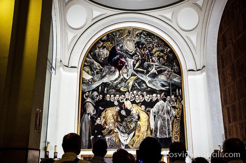 Espacios Greco cuadro El entierro