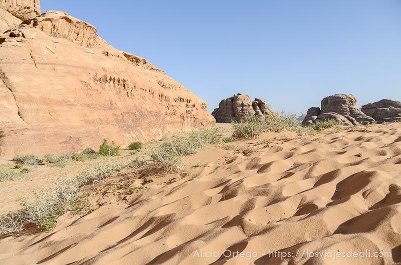 arena en desierto de wadi rum