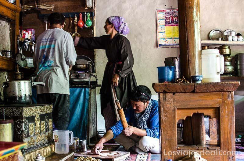 cocina tradicional ladakh lamayuru