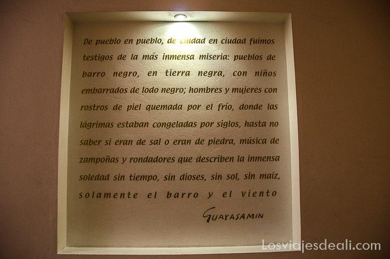 poesía en el museo guayasamín
