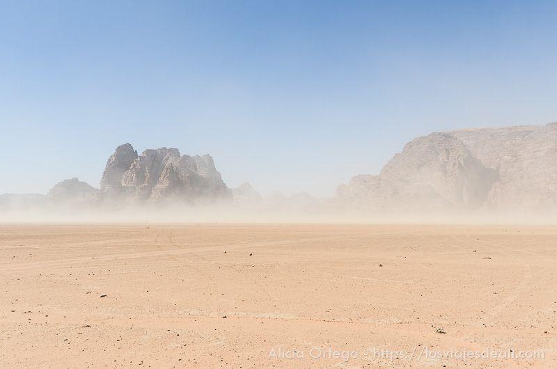 paisaje del desierto de wadi rum