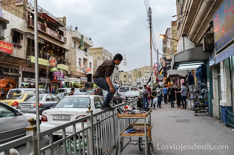 calles de Amman la capital de Jordania en 6 días