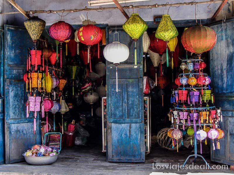 tienda de farolillos de Hoi An