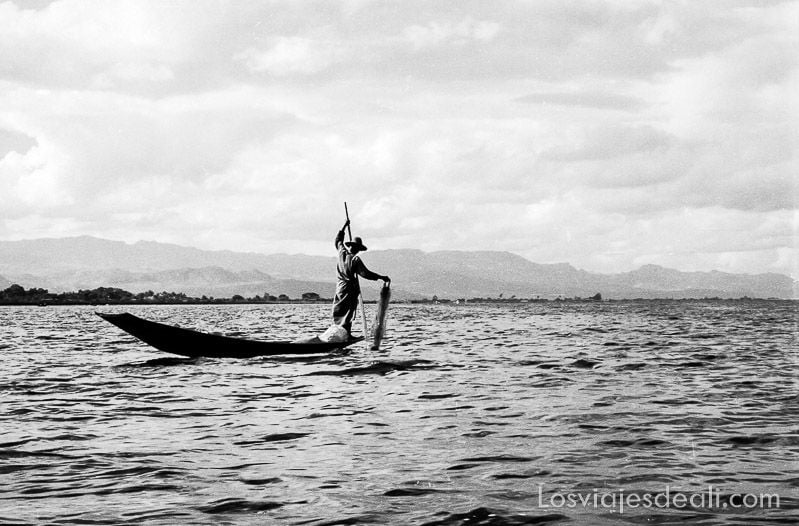 myanmar lago inle pescador