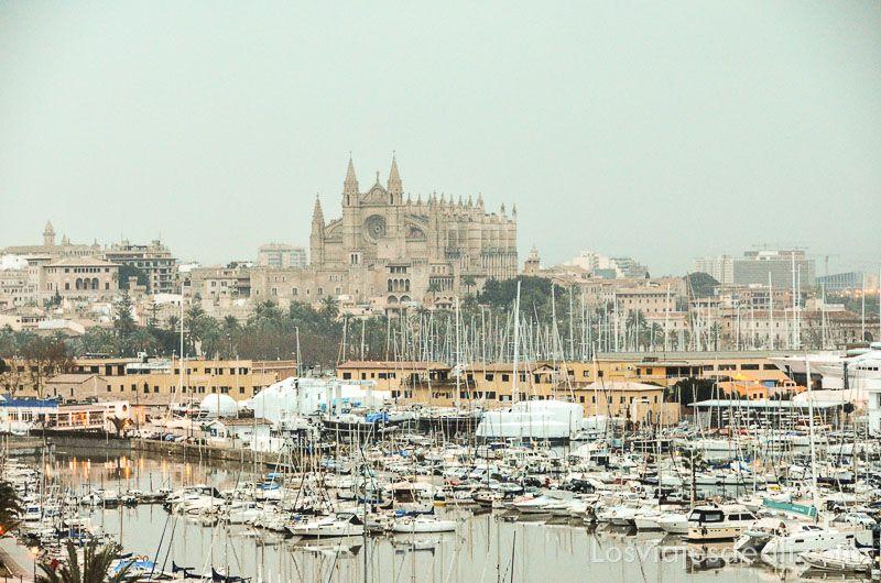 palma de mallorca monumental catedral frente puerto