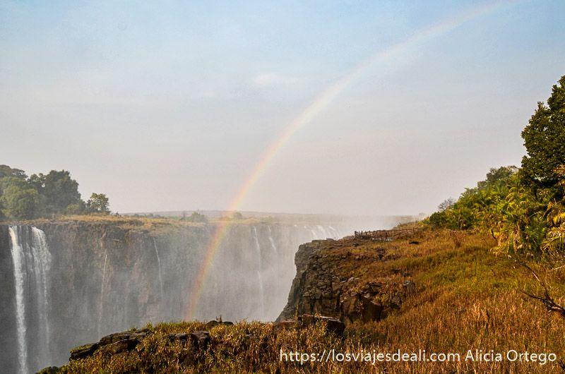 arco iris en las cataratas victoria