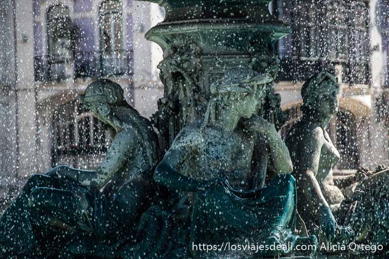 Lisboa en 20 fotos fuente del Rossio