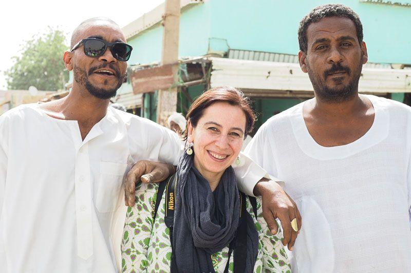con amigos de Sudán
