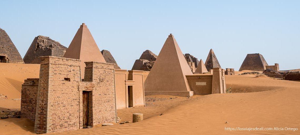 guía de viaje a Sudán pirámides de Mero