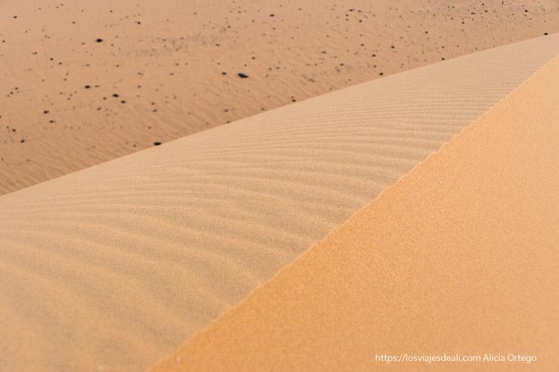 arena del desierto de cerca