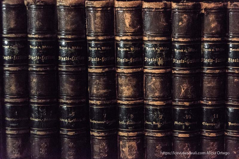 libros antiguos en la biblioteca del castillo de peles en sinaia