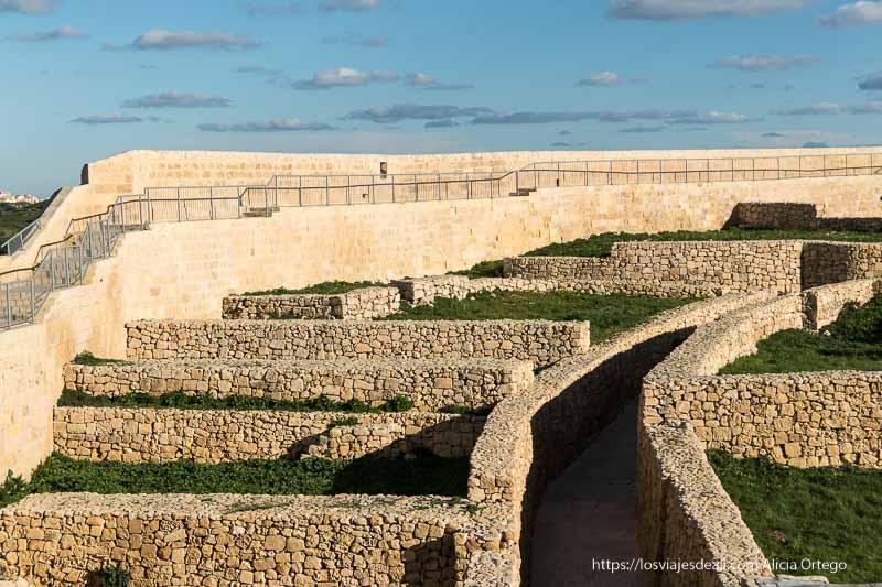 restos de asentamiento fenicio en ciudadela de Gozo