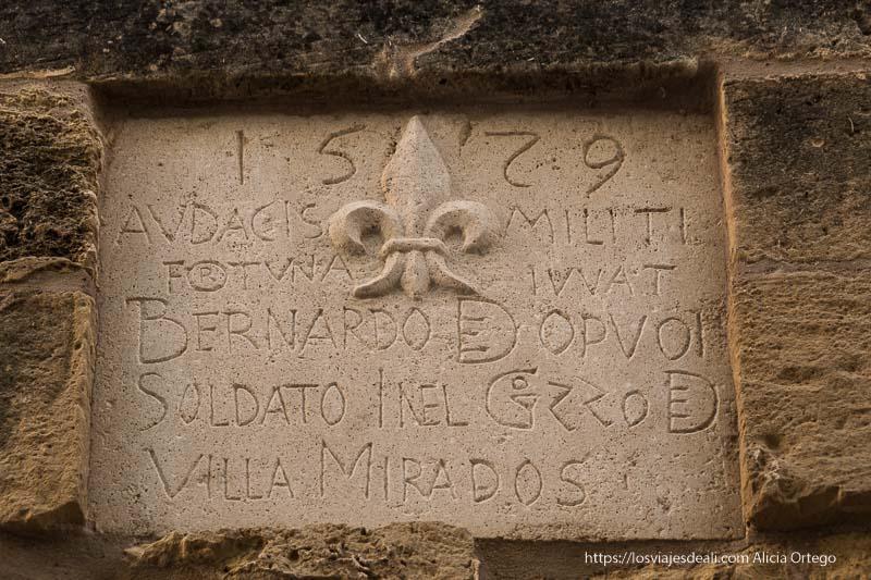 escudo de Bernardo Dopuo en la ciudadela de Gozo