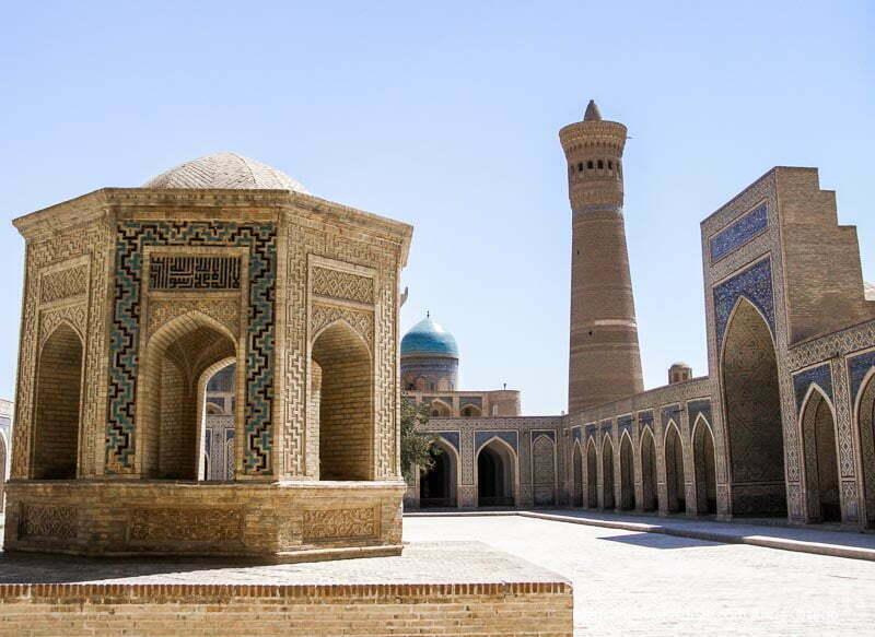 patio de mezquita en bukhara