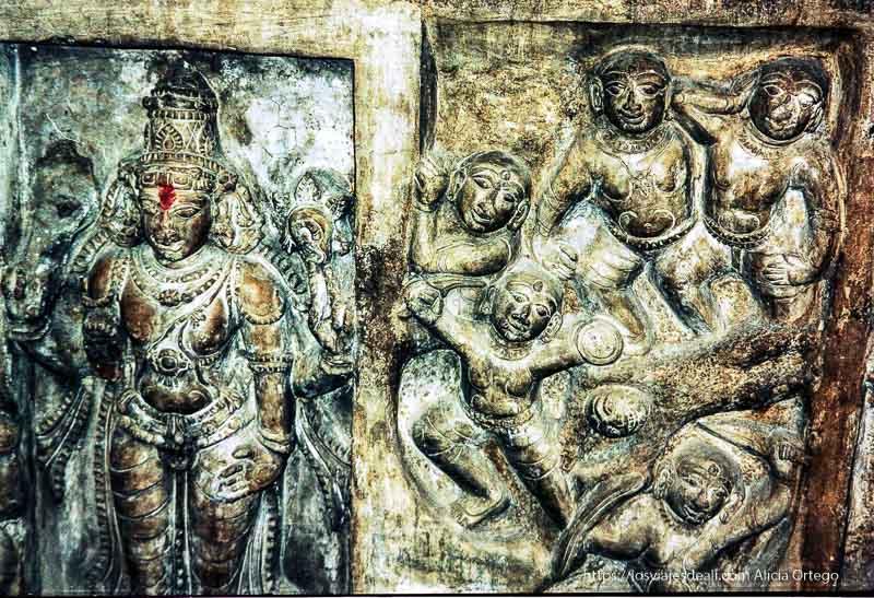 dioses de piedra en tamil nadu