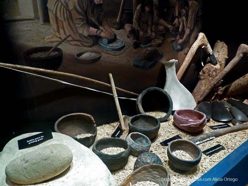 objetos neolíticos en el museo de newgrange