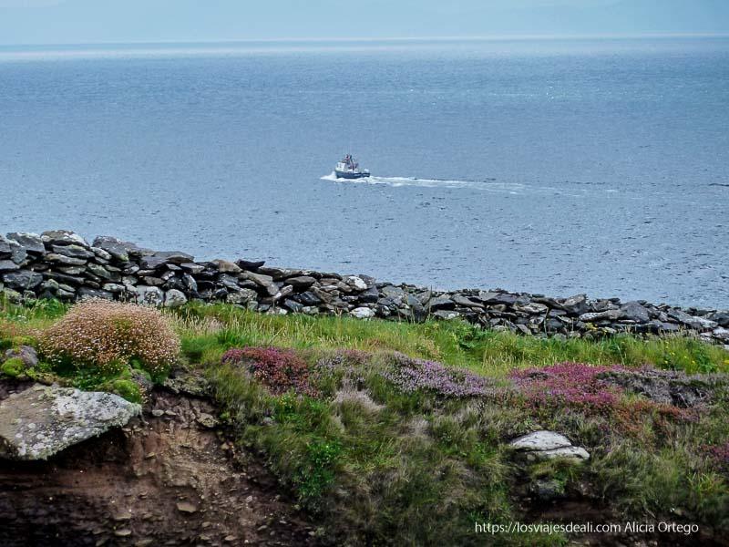 barquito en el mar península de dingle primeras impresiones de Irlanda