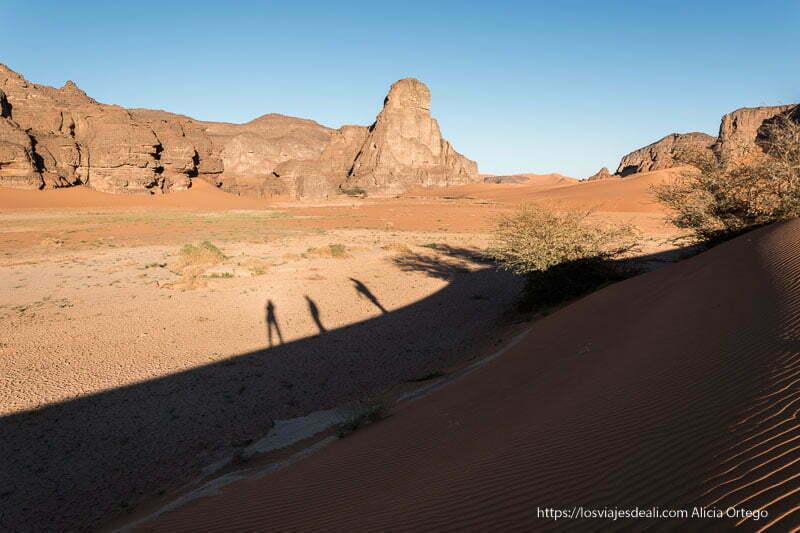 caminando por el desierto viaje a Argelia