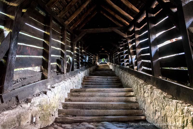 escaleras de los estudiantes en sighisoara