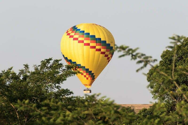 globo subiendo en el masai mara