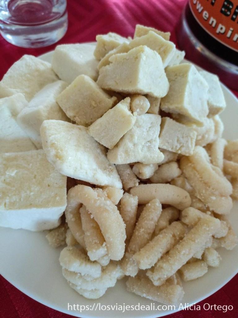 plato de queso seco de mongolia