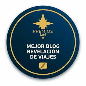sello redondo de premios IATI al mejor blog revelación de viajes