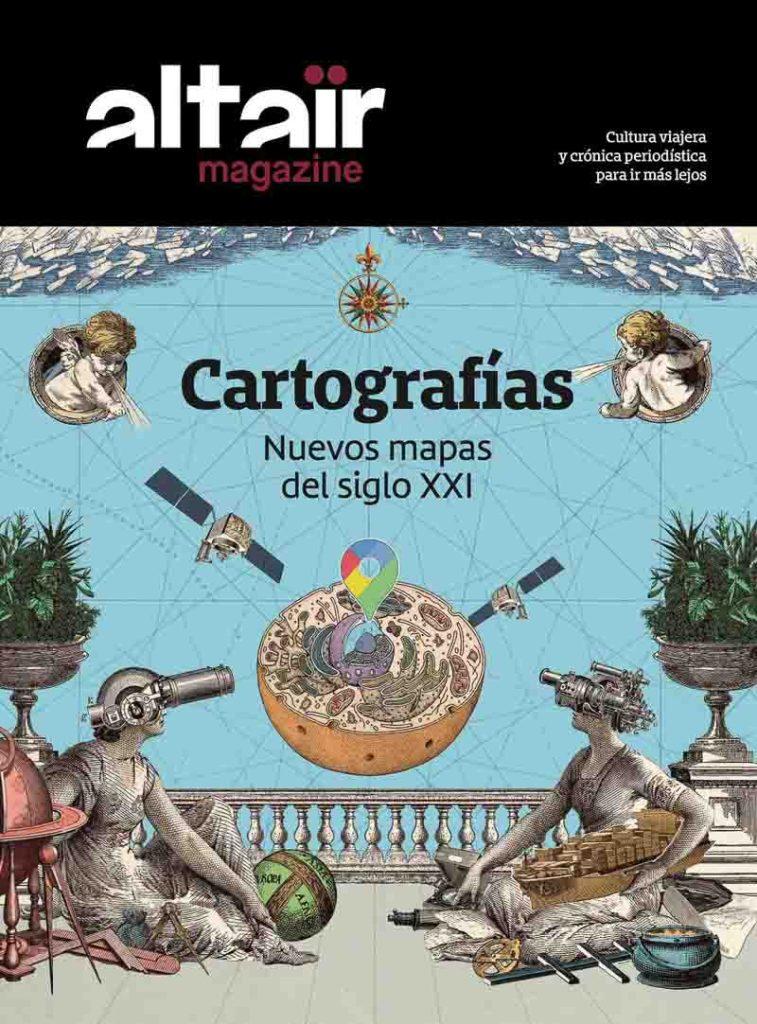 portada de revista altaïr con el número dedicado a Cartografías viajar desde casa