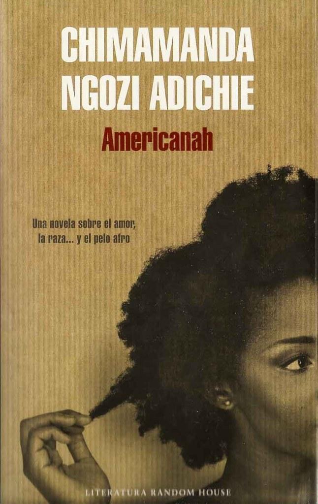 portada del libro Americanah con una chica negra con pelo muy rizado