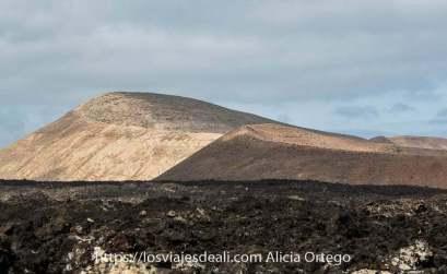 ruta de la caldera blanca senderismo en lanzarote