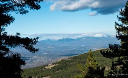 vistas del valle de lozoya desde el puerto de Canencia
