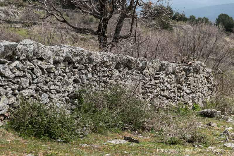 muro de piedra sin argamasa