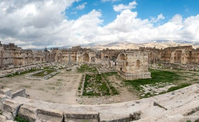 ruinas de baalbek en panorámica