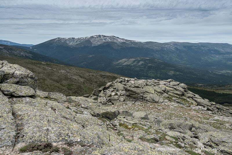 vistas de la sierra desde la loma de bailanderos