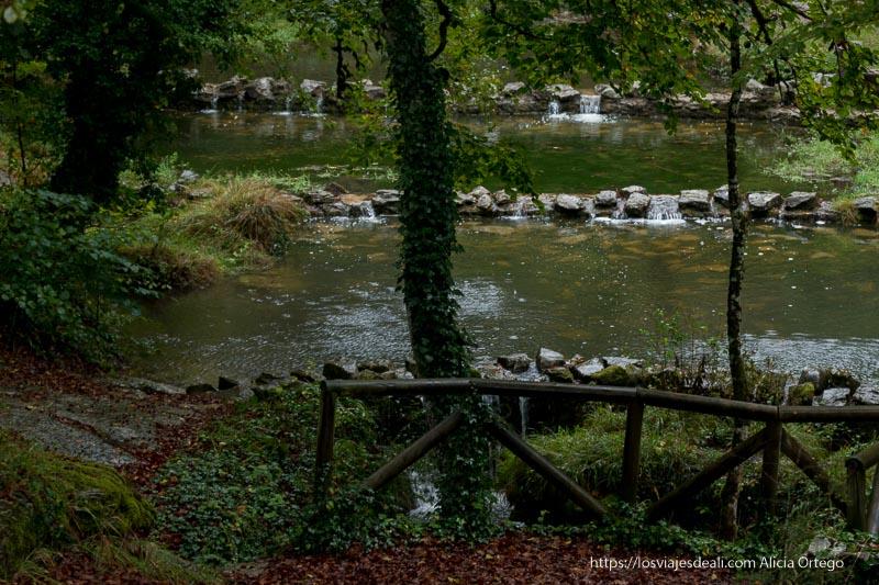 pequeñas lagunas formadas por el arroyo del monte Santiago