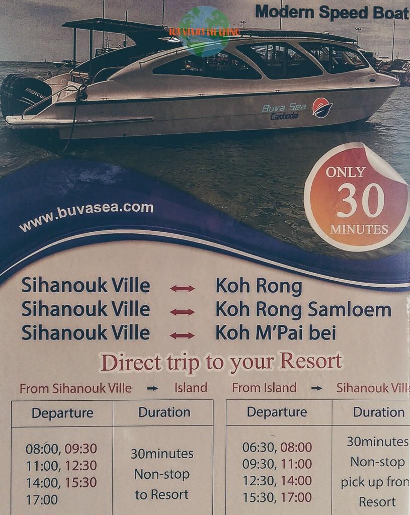 horarios de ferrys para Koh Rong