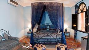 Habitación azul en el Riad Losra