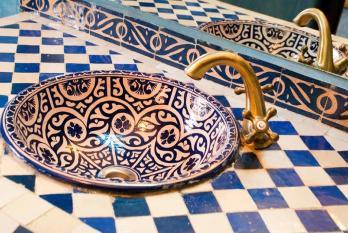 Escapada invernal a Marrakech, detalle lavabo Rial Losra Marrakech