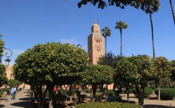 Jardines de la Mezquita Koutubia de Marrakech