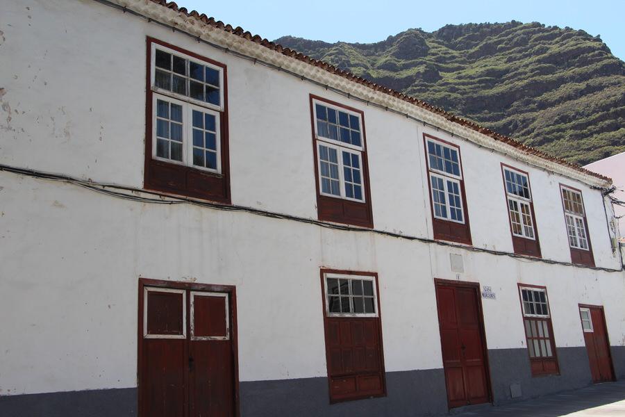 Casas señoriales, típica canaria.Agulo, La Gomera