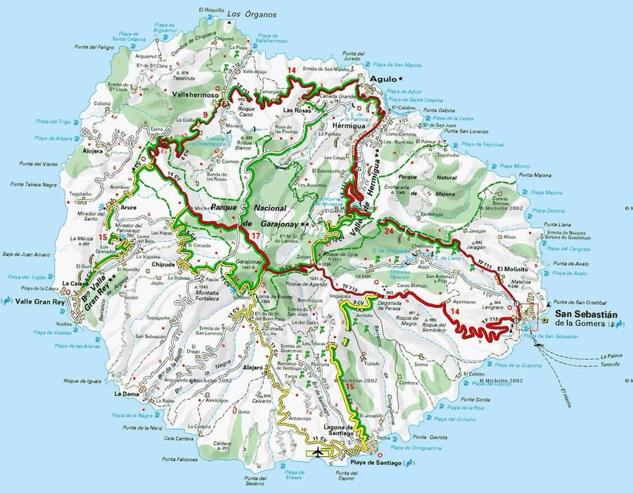 Mapa de Maderia. Viajar en familia