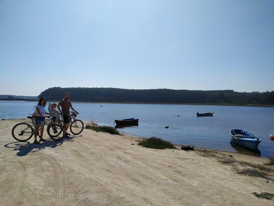 -Un paseo en bici.Lago de Óbidos-