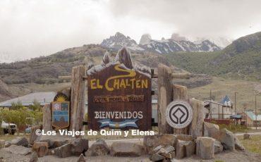 Cartel de entrada en El Chaltén